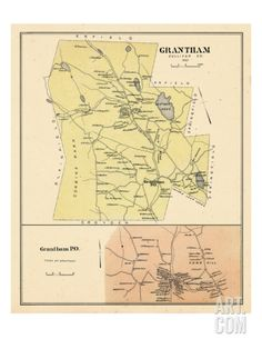 1892, Grantham, Grantham Town, New Hampshire, United States Giclee Print at Art.com