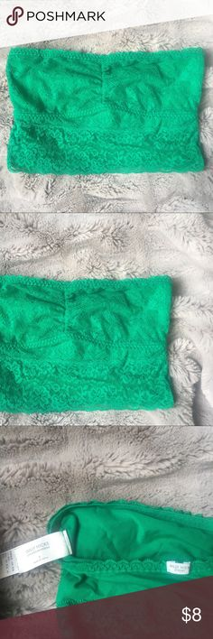 Green lace bandeau Adds great color to any outfit, very comfortable!  ➳ Other bras also for sale in my closet   ✗ no lowballs ✗ no trades   ➳ bundle & save! Gilly Hicks Intimates & Sleepwear Bandeaus