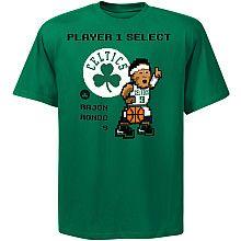 NBA Exclusive Collection Boston Celtics Rajon Rondo 8-Bit Player T-Shirt Haha cute!