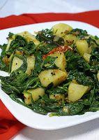 Cantinho Vegetariano: Batatas com Espinafre (vegana)