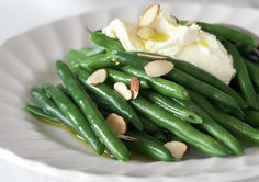 Green Beans with Feta Cream - get those greens in! #CrackerChristmas