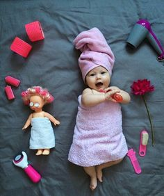 New Ideas For New Born Baby Photography : Foto - Baby Monthly Baby Photos, Cute Baby Photos, Baby Girl Pictures, Newborn Pictures, Monthly Pictures, Funny Baby Pictures, Foto Baby, Baby Poses, Newborn Baby Photography