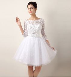 short-wedding-dresses-with-sleeves