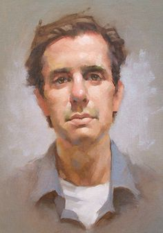 """Max"" - Jeff Haines, oil on canvas {contemporary figurative artist male head man face portrait painting} jeffhainesart.com"