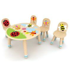 Bug Table With 4 Bug Chairs