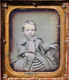 Sixth Plate Daguerreotype Well Dressed Toddler   eBay