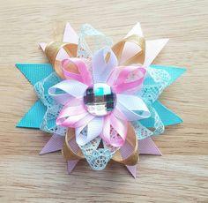 Fairy Princess Hair Bow Birthday Bow Loopy Hair by BerryTreasured