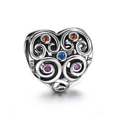 "Ninaqueen 925 Sterling Silver ""The Guard of Love"" Heart-shaped Hollow Charms Fit Pandora Bracelet *** LEARN MORE @ http://splendidjewelry4u.com/ninaqueen-925-sterling-silver-the-guard-of-love-heart-shaped-hollow-charms-fit-pandora-bracelet/?a=7584"
