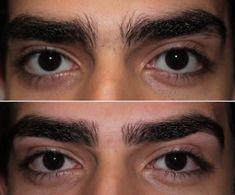 Dicas de sobrancelhas para homens                                                                                                                                                                                 Mais Guys Eyebrows, Thick Eyebrows, Eye Brows, Thicker Eyelashes, Long Lashes, Eyebrow Design, Eyebrow Grooming, Natural Brows, Make Beauty