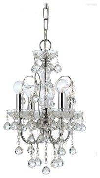 Crystorama Imperial 4-Light Mini Chandelier in Polished Chrome traditional-chandeliers