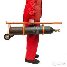 Разборная тележка для газовых баллонов объемом 10л
