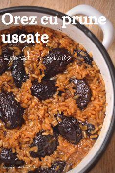 Orez aromat cu prune uscate - o mâncare dulce sau un desert tradițional, absolut delicios. Cereal, Breakfast, Food, Morning Coffee, Meal, Essen, Hoods, Meals, Breakfast Cereal
