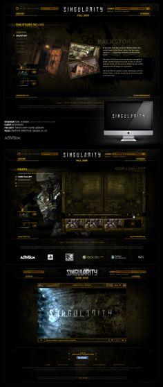 Activision: Singularity Launch Website - Designed By Eric Jordan (www.ericjordan.com) #webdesign #graphic #design