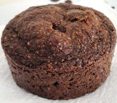Muffins de chocolate Dukan - farelos, ovos, adoçante, cacau, leite desnatado