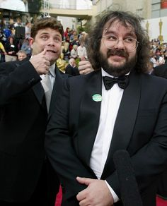 Sean Astin and Peter Jackson