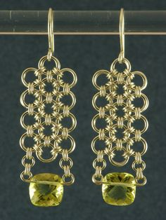 lemon topaz japanese 12-2 earrings