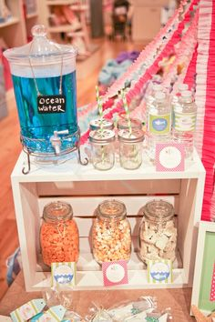 Cute beach or mermaid party snack ideas