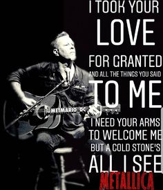 For everything Metallica check out Iomoio Metallica Song, James Hetfield, Dream Guy, Rock Music, Song Lyrics, Heavy Metal, Growing Up, Thats Not My, Notebook Ideas