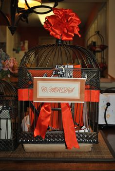 DIY birdcage cards for my Aunt wedding.