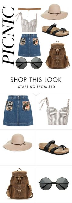 """Untitled #5"" by nicoleank ❤ liked on Polyvore featuring STELLA McCARTNEY, Rosie Assoulin, Halogen and Birkenstock"