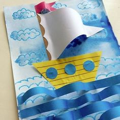 ideas spring art projects for kids preschool classroom The Effective Pictures We Offer You Boat Crafts, Ocean Crafts, Fish Crafts, Camping Crafts, Spring Art Projects, Projects For Kids, Kindergarten Art, Preschool Crafts, Preschool Classroom