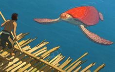 The Red Turtle, a new animation co-produced by Studio Ghibli, tells the story of a man washed up on a deserted island, populated only by turtles and crabs. Mary And Max, Cannes, Hayao Miyazaki, Madagascar, The Red Turtle, Films For Children, Shot Film, Film Red, Shaun The Sheep