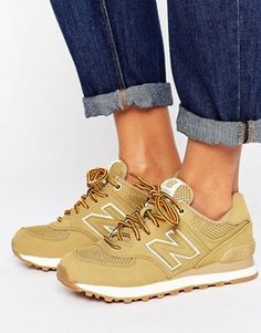 f747a5dc88a New Balance 574 Trainers In Sand Suede New Balance Womens Shoes, New  Balance Sneakers,