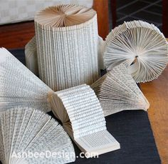 About a month ago I shared with you some examples of books altered by folding here  and here . Those designs got my fingers twitching and I ...