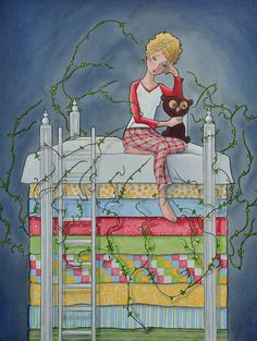 Princess and the Pea fairy tale small stuff girl by MaryPohlmann