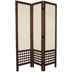 5½ ft. Tall Open Lattice Fabric Room Divider - OrientalFurniture.com #shoji #screen
