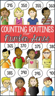 Counting Routines for Number Sense, a counting and skip counting activity that fits into those 5 minute chunks of extra time