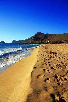 Falassarna beach in Chania, Crete