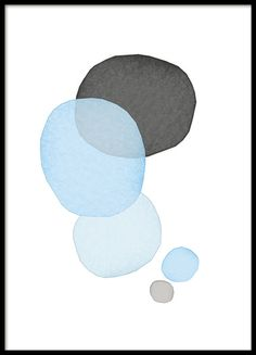 Graphical poster with beautiful bubbles in blue and gray pastel colors. Simple but stylish poster that goes with many different décor styles. Looks great both alone and as part of an art wall collage with some of our other posters. www.desenio.com