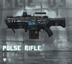 Pulse rifle weapon concept by ~ProxyGreen on deviantART