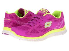 SKECHERS Flex Appeal-Align Purple/Lime - Zappos.com Free Shipping BOTH Ways