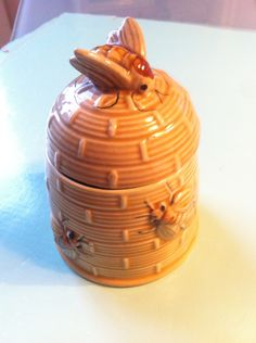 Vintage China Busy Bee Honey Pot With Kitchenalia Serving Ware