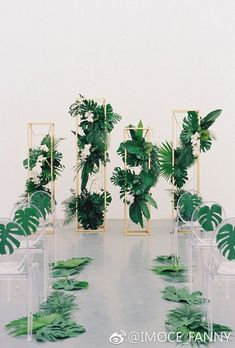 Beautiful decor for a geometric greenery wedding.