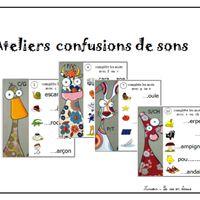 Atelier confusions de sons : écrire des mots Voici un petit atelier pour écrire des mots : le choix est donné entre deux sons, portant sur les confusions classiques. Les...