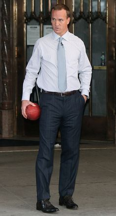Peyton Manning - now there's a tall drink of water