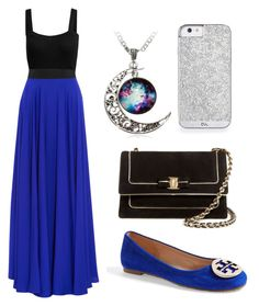"""""""Untitled #96"""" by oxkyaxo ❤ liked on Polyvore featuring Milly, Tory Burch and Salvatore Ferragamo"""
