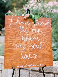 Rustic painted wood ceremony sign: www.stylemepretty... | Photography: Amy Arrington - amyarrington.com/