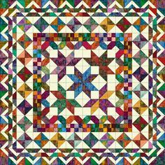 In the March/April 2012 issue of Quiltmaker I have a medallion quilt called Minnesota Homewarming. This quilt measures 80″ square. I have received questions on how to make the quilt bigger. …