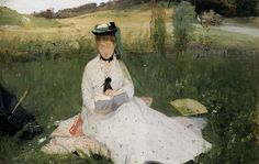 Berthe Morisot - Reading with Green Umbrella