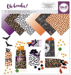 We R Memory Keepers - Oh Goodie Collection - 12 x 12 Paper Pad - Glassine Halloween at Scrapbook.com