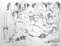 Pablo Picasso, Reclining Nudes,1968