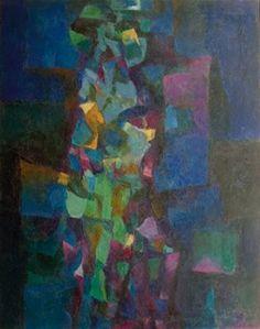 Sciamano blu - Olio su tela 140 x 110 - 1976