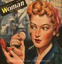 1940s-London-Blitz-makeup-look- History of Makeup