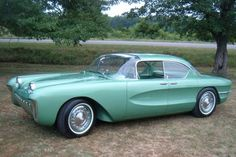 1955 Chevy Biscayne concept car. Saved from a junkyard after Chevy scrapped a bunch of concept cars in the 50's. Hidden by junkyard workers and rebuilt some 50 years later. Only one in existence.
