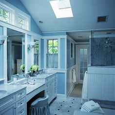 window above double vanity