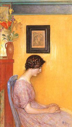 """Kersti 1915"" By Carl Larsson (1853-1919) Swedish naturalist painter, illustrator, printmaker, watercolorist"